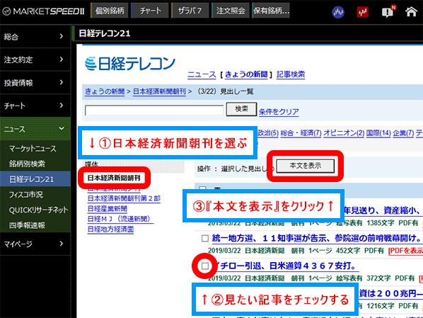 日経 テレコン 楽天 証券